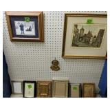 Brass Jesus Plaque, Picture Frames, Pencil