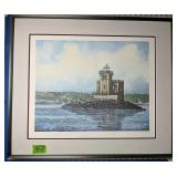 """Pencil Signed Lighthouse Print 28.5x24.5"""""""