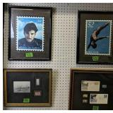 Four Stamp Wall Art. Stamp Prints, First Day
