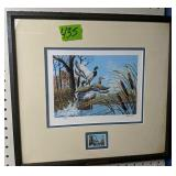 Pencil Signed In Numbered Harold Rowe Duck Print