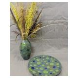 Decorative Ceramic Vase With Tray