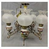 5 Light Ceramic Chandelier With Children Motif