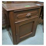 Pine Single Drawer Cabinet 24x15x28