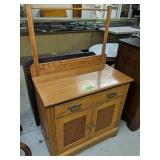"""Oak Wash Stand With Towel Bar 31x16x50"""""""