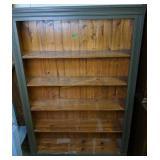 """Green Wood Bookcase 49x10x72"""" Tall"""