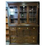 Craftique Cherry Reproduction 2 Part China Cabinet
