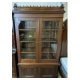 """Victorian Walnut 2 Part Cabinet 46x17x83"""" Tall"""