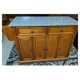 Crosley Granite Top Rolling Kitchen Cart