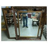 """Pair Of Large Wall Mirrors 40x50"""", 32x48"""""""