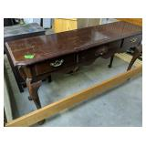 Cherry Thomasville Queen Anne Console Table