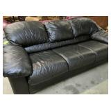 """Black Leatherette Couch 82"""" Wide X 31"""" Tall"""