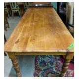 """Pine Farmhouse Dining Table 96x38x29.5"""" Tall"""