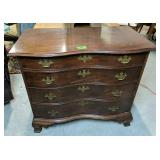 Mahogany Serpentine Front Chest Of Drawers