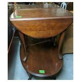 3 Pc Set Queen Anne Cherry End Tables, Coffee