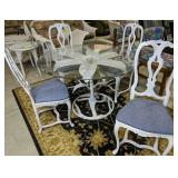 Naturalist Designer Lily Pad Table, 4 Chairs