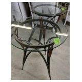 """Pair Of Iron Cat Nine Tails Tables 20x26"""" Each"""