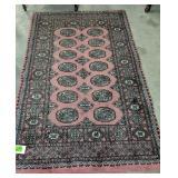 """Wool Pink & Gray Bohkara Area Rug 68x44"""""""