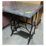 Granite Top  Cast Iron Treadle Sewing Machine