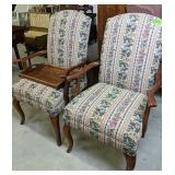 """Pair Of 40"""" Ethan Allen Upholstered Armchairs,"""