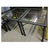 Pair Of Black Barbed Wire Style Metal End Tables
