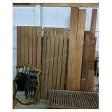 Cedar Sauna Boards, Bench Seat, Mirror