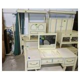9 Pc Bedroom Suite. Pair Of Twin Headboards, And