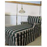 "52 X28x31"" Tall Green Chaise Lounge, Floor Lamp"