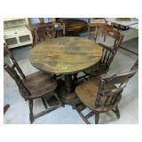 """33x30"""" Round Table With Four 35"""":chairs"""