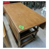 "Drop Leaf Rolling Tea/bar Cart 36x19x28"""