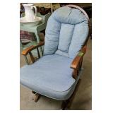 Light Blue Glider, Discoloration At Top Of Cushion