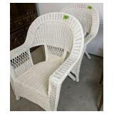 """Pair Of 38"""" Wicker Arm Chairs"""