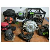 Power Tools. Buffer, Circular Saws, Glue Gun,