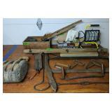 Block, Draw Knife, Limb Saw, Single Tree, Work
