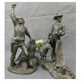 Western Heritage Museum Pewter Cowboy Sculptures
