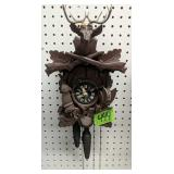 """11"""" Black Forest Cuckoo Clock, Missing 1 Weight"""