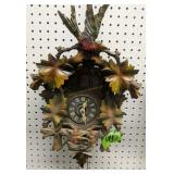 """17"""" Black Forest Cuckoo Clock, Missing Weights"""