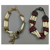 Pair Of Native American Choker Necklaces
