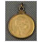 1870 20 Franc Leopold Ii Belgium Gold Coin