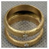 Unmarked 14k Gold Diamond Ring 5.3 Dwt