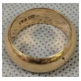 Wide Rose Gold Band Ring Stamped 18 Crown 4.5 Dwt