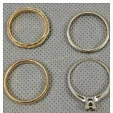 Four 14k Gold Rings 6.6 Dwt