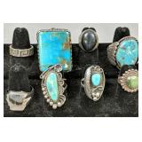 8 Sterling Silver Turquoise Native American