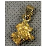 Charters Towers Gold Nugget Pendant 3dwt