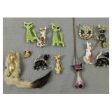 Cat Brooches, Pins, Pendant