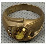 10k Gold Citrine Diamond Ring 3.4 Dwt