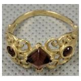 10k Gold Garnet Ring 1.3 Dwt