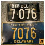 Live Active Delaware Licence Plate Tag 7076
