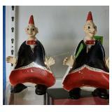 Pair Of Ceramic Figurines Made In Japan