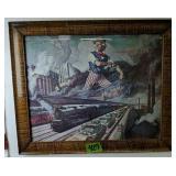 "23x20"" Patriotic Pennsylvania Railroad Print"