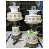 """Pair Of Table Lamps. 23"""" & 20"""" Tall"""